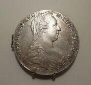 2-1780-austria-maria Theresa Thaler-silver Coins-made Into Double Picture Frame