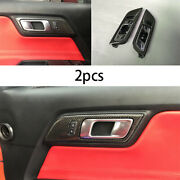 For 2015-2020 Ford Mustang Interior Door Handle Bowl Carbon Fiber Replacement