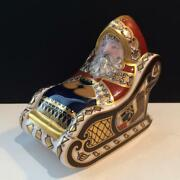 Royal Crown Derby Santa And Sleigh Paperweight E4126