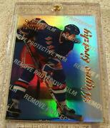 Wayne Gretzky 1996 Select Certified Mirror Blue Foil With Coating 4 Rangers