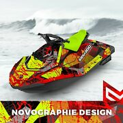 Seadoo Spark Trixx Graphic Kit Wraps 2up + 3up Jet Ski Sea Doo Decal Vinyl Camo