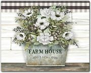 Vintage Farmhouse Tempered Glass Counter Saver/cutting Board 12 X 15 Inches