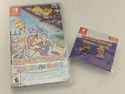 Paper Mario The Origami King Nintendo Switch - Brand New In Hand With Promo Pins