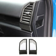 Fit For Ford F-150 15-2020 Left And Right Air Outlet Vent Trim Dry Carbon Fiber