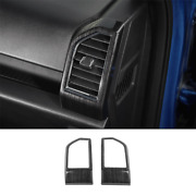 For 2015-2020 Ford F-150 Black Wood Grain Left And Right Air Outlet Vent Decor