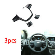 Fit For Ford Focus St Rs 12-14 Steering Wheel U Type Cover Trim Abs Carbon Fiber