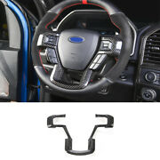 Fit For Ford F-150 2015-2020 Steering Wheel Frame Cover Trim 1x Dry Carbon Fiber