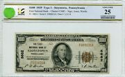 Fr1804-1 Ch 5682 100 1929 Frbn Stoystown Pa Pcgs 25 Vf 65a Dfp 7/18/20