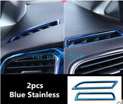 Blue Stainless Console Upper Air Vent Outlet Trim For Vw Golf Mk7/7.5 2015-2020