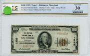 Fr1804-1 Ch 1325 100 1929 Frbn Baltimore, Md Pcgs 30 Vf 70a Dfp 7/18/20