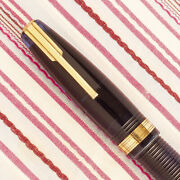 Vintage Waterman Ideal Hundred 100 Year Transparent Blue Jewel Fountain Pen