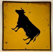 C. 1940 Cow Crossing Sign