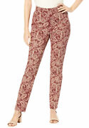 Jessica London Women's Plus Size Tall Comfort Waistband Jeans Pull On Stretch