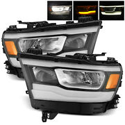 For 2019-2020 Ram 1500 Headlights Stock Halogen To Full Led Upgrade Replacement