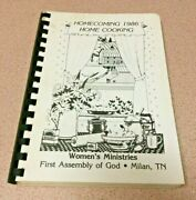Vintage 1986 First Assembly Of God Church Old Cookbook Milan Tn Tennessee