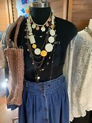 Lot 10 + Vintage Single And Multi Strand Mixed Bead Statement Necklaces Key