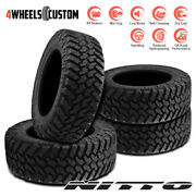 4 X New Nitto Trail Grappler M/t 285/55r22 124q Off-road Traction Tire