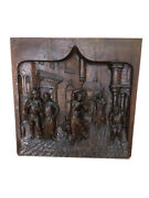 Intricately Carved French Panel- Of Hunchback Of Notre Dame 19th Century