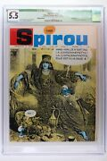 Spirou 1460 - 1966 Cgc 5.5 Qualified - 1st Full Appearance Of Smurfette.