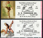 Lot Of 3 Girly Cincy Pin-up By Elvgren Ink Blotter Leather High Heels Sexy Legs