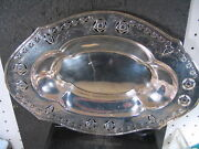 Sterling Bread Tray Unknown Maker Or Pattern Floral Pattern 177