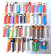 Lot Of 43 Assorted Pez Dispensers Star Wars Garfield Muppets Dc Looney Tunes