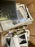 Lot Of Mixed Snapshot Photos And Two Glass Negatives