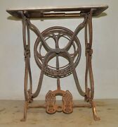 Antique Wilson Cast Iron Sewing Machine Treadle Base Collectible 1870and039s Tool