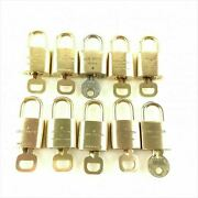 Louis Vuitton Used Pad Lock With Key 10pices Sets