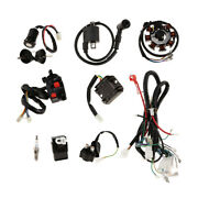 Complete Electrics Stator Coil Atv Wiring Harness Solenoid Relay Spark Plug