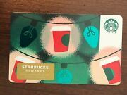 Starbucks Gift Card 2019 Red Cup Gold Lights Christmas Cheer Holiday No Value