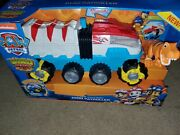 New Paw Patrol Dino Rescue Patroller Motorized Team Vehicle Chase + T Rex Figure