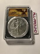 2019-w Pcgs Sp70 Burnished Silver Eagle. Thomas Cleveland Scroll. Edition 10000