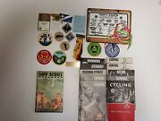 Lot Vintage Boy Cub Wolf Eagle Webelo Scout Handbook 10 1960s Patches Awards