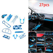 Fit For Honda Fit Jazz 2017 2014-20 Automobile Interior Decor Full Set Abs Blue