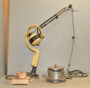 Ritter Dental Drill And Engine Industrial Repurpose To Light Lamp Collectible Tool