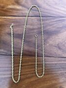 Antique Or Vintage Solid 18ct Yellow Gold Long Chain Necklece Not Scrap 15.9 Gra