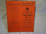 1983 Milwaukee Road Train Employee Timetable No.4,chicago St.paul Pacific Co. Rr