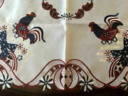 Patriotic Rooster Tablecloth