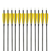 6/12/24x Archery Shooting Carbon Arrow Turkey Feather 500spine Target Bowhunting
