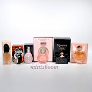 Lot Of 6 Different Mini Perfume Miniature Bottle Rochas Armani Bvlgari Nib -3