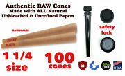 Raw Classic 1 1/4 Size Pre-rolled Cones 100 Pack
