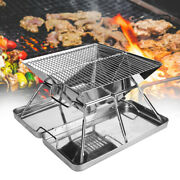 Portable Foldable Barbecue Charcoal Grill Stove Shish Kebab Stainless Steel Bbq