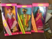 Lot Of 33 Dolls Of The World Barbie Doll Collection Princesses Japan Spain