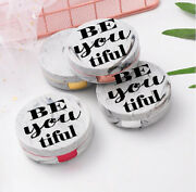 Personalized Marble Contact Lens Case Portable Contact Lens Box Kit Mirror - F5
