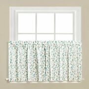 Gentle Wind Leaf Pattern Watercolor Effects Window Panel Tier And Valance