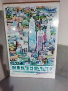 Vintage Cleveland Catch The Spirit Poster Large Double Sided 36x24