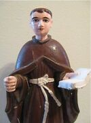 Tall Rare Old Carved Wood Santos Saint Anthony