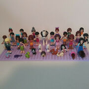 Lot Of 21.5 Lego Friends Minifigures Girls Elves Horse Accessories And Animals