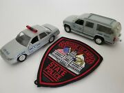 143 Diecast Police Cruisers And Agency Police Patch Rhode Island State Police